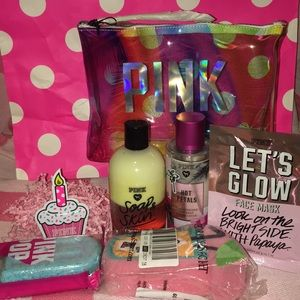 PINK Bundle 5 Pieces with Cosmetics Pouch 👝